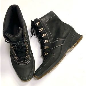 Timberland Leather Wedge Boots